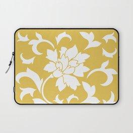 Oriental Flower - Mustard Yellow Laptop Sleeve