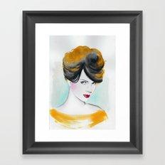 yellow lady Framed Art Print