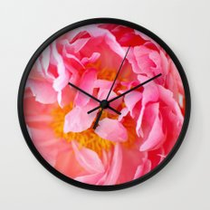 Peonies Forever II Wall Clock