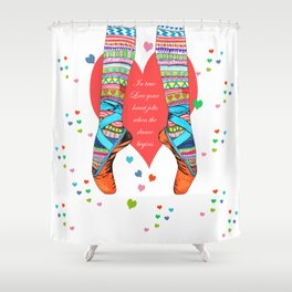 IN TRUE LOVE Shower Curtain