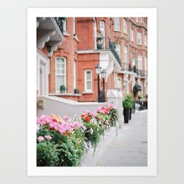 Kensington & Chelsea fence Art Print