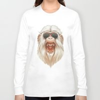 ruben Long Sleeve T-shirts featuring The Great White Angry Monkey by Dr. Lukas Brezak