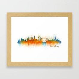 London City Skyline HQ v3 Framed Art Print