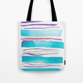 3  |181026 Lines & Color Block | Watercolor Abstract | Modern Watercolor Art Tote Bag