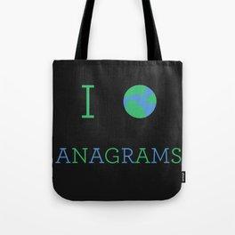 I heart Anagrams Tote Bag