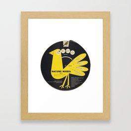 Junior Ornithology Wheel Framed Art Print
