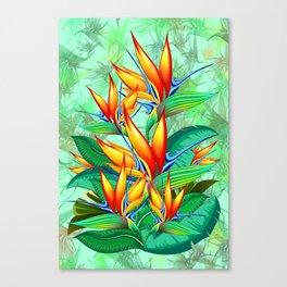 Bird of Paradise Flower Exotic Nature Canvas Print