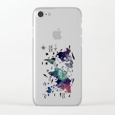 Oceans Life World Map Clear iPhone Case