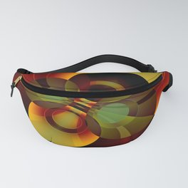 Brown and Gold Circles Geometric Abstract Fanny Pack
