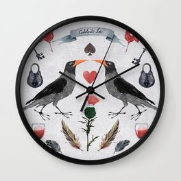 Dark creatures also want love. Wall Clock