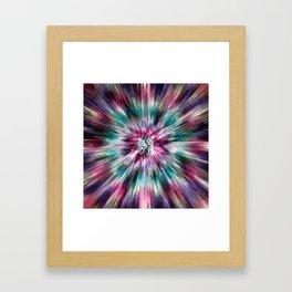 Colorful Watercolor Tie Dye Framed Art Print