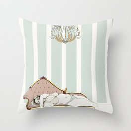 Chaise longue Throw Pillow