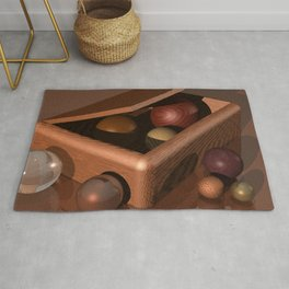 Wooden Box POV RAY TRACING CGI 8000x6000 Pixels 32 bit Color Palette Rug