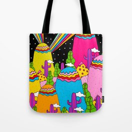 Night Sky Rainbows Tote Bag