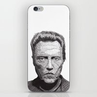 christopher walken iPhone & iPod Skins featuring Christopher by Rik Reimert