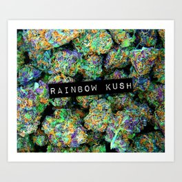 Rainbow Kush Art Print