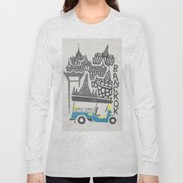 Bangkok Cityscape Long Sleeve T-shirt
