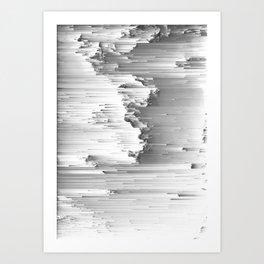 Japanese Glitch Art No.6 Art Print