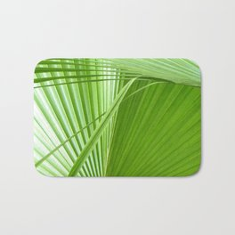 Palm Leaves // Tropical Wall Art, Beach Cottage Decor, Coastal Art Bath Mat