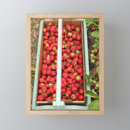 Strawberry Picking Framed Mini Art Print