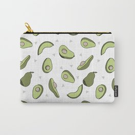Avocado pattern by andrea lauren minimal cute fruit vegetable food print design Carry-All Pouch