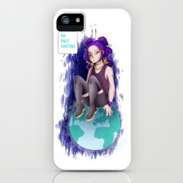 Only Visiting iPhone Case