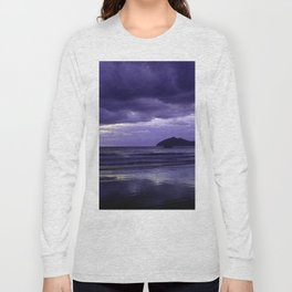 Mission Beach Sunrise in Purple Long Sleeve T-shirt