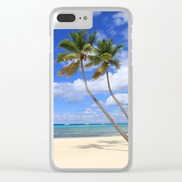 Palmtree Duo Clear iPhone Case