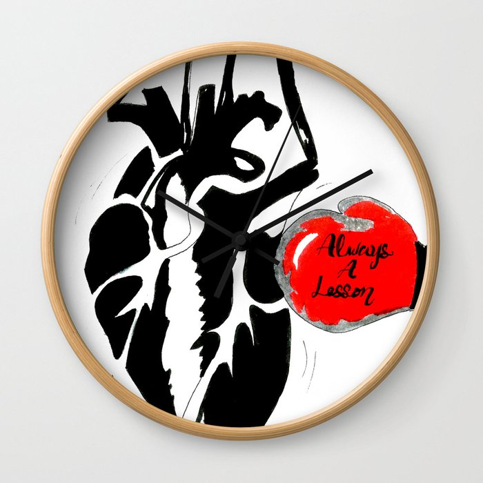 Always a Lesson Heart Wall Clock