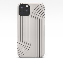 Minimal Line Curvature - Black and White I iPhone Case
