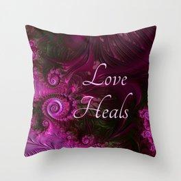 Love Heals Throw Pillow