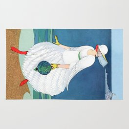 "George Wolfe Plank Art Deco Design ""On The Beach"" Rug"