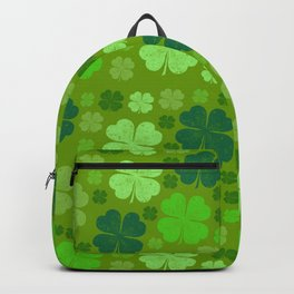 Saint Patrick's Day, Four Leaf Clovers - Green Backpack