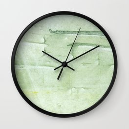 Gently green painting Wall Clock