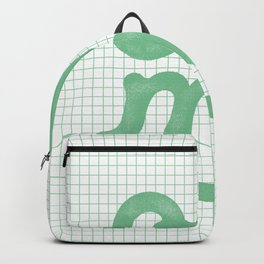 Oh My green and white typography poster design for bedroom wall art home decor Backpack