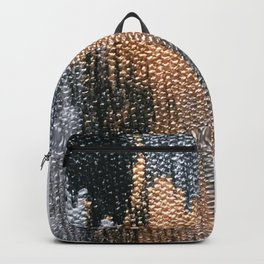 Rose Gold Dream - Abstract Oil Painting Backpack