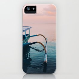 Indonesian boat at dawn iPhone Case