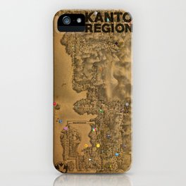 Kanto Region Map iPhone Case