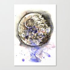 Star Wars Art Painting The Death Star Canvas Print