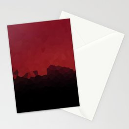 Red and Black Crystals Pattern Abstract Art Stationery Cards