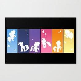 Rainbow Ponies Canvas Print
