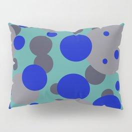 bubbles blue grey turquoise design Pillow Sham