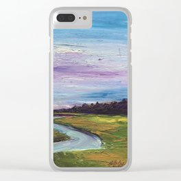 Morning on the Marsh Clear iPhone Case