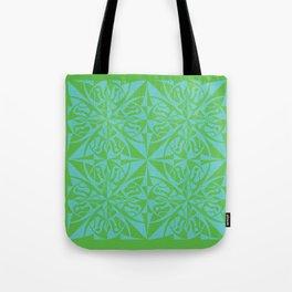 Think Tiled - Green Blue Tote Bag