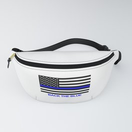 Thin Blue Line Back the Blue Flag Fanny Pack