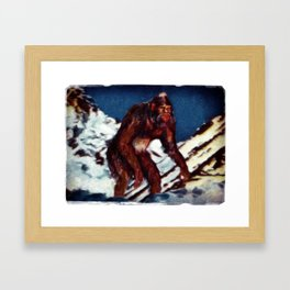 Bigfoot is Real Framed Art Print