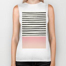 Blush x Stripes Biker Tank