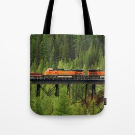 BNSF Going Over Goat Lick Creek Tote Bag