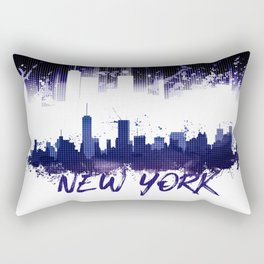 Graphic Art NYC Skyline Splashes | purple Rectangular Pillow