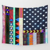 boho Wall Tapestries featuring Boho America by Schatzi Brown